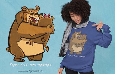 Design de camiseta do papai urso
