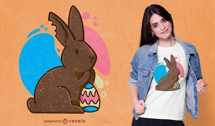 Design de camiseta de coelho de chocolate
