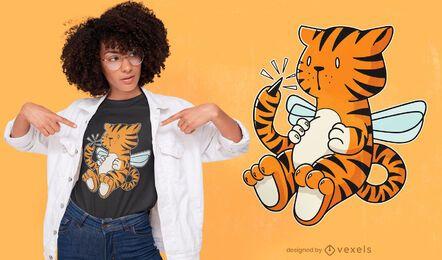 Diseño de camiseta de tigre hornet
