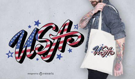 Design de sacola dos Estados Unidos
