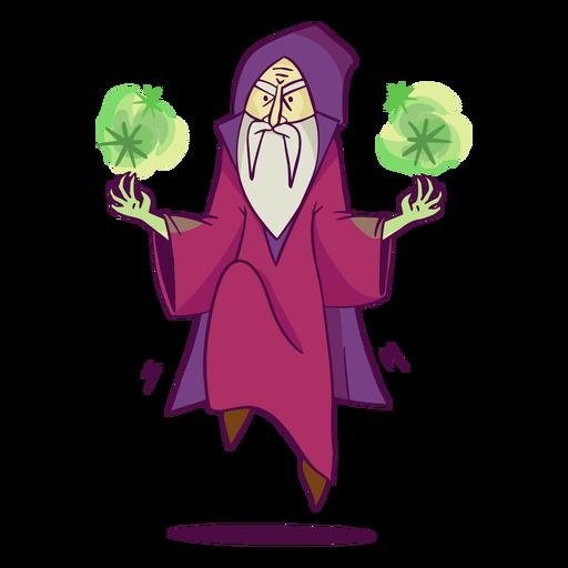 Purple sorcerer doing magic color stroke