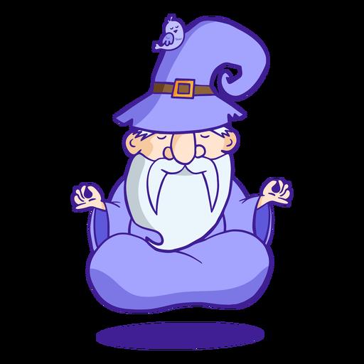 Floating wizard illustration