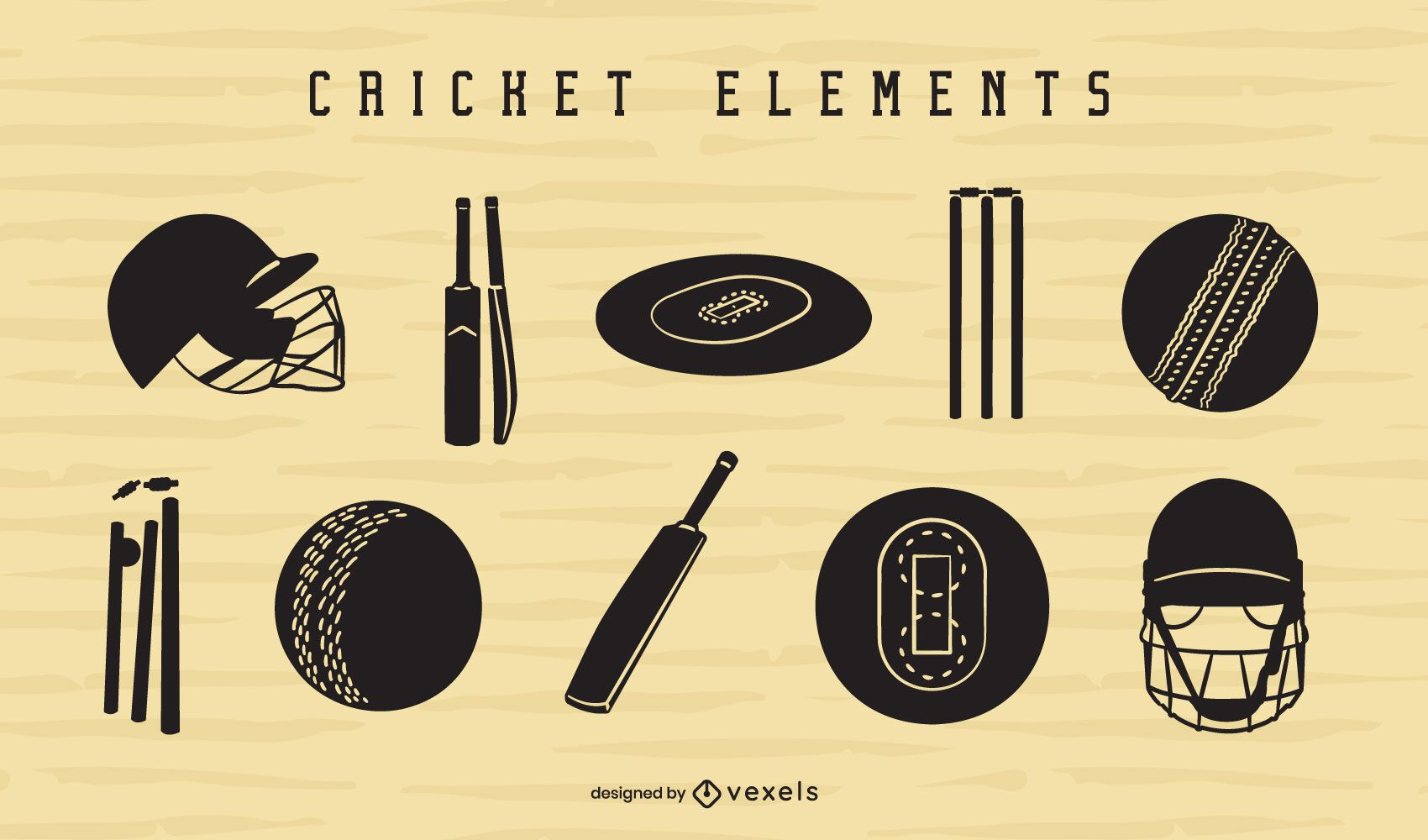 Cricket element cut-out set