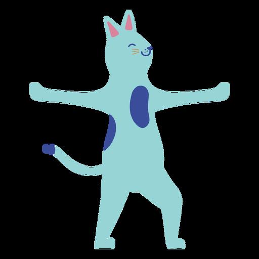 Cat dancing flat