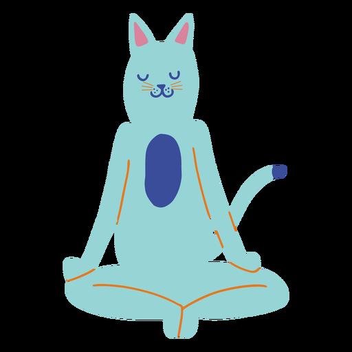 Yoga cat flat
