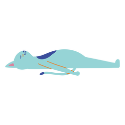 Sleeping cat flat