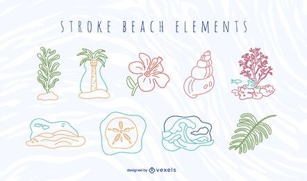 Stroke beach element set