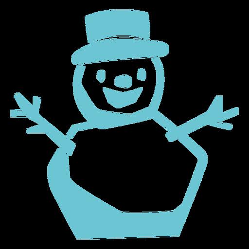 Smiling snowman cut out