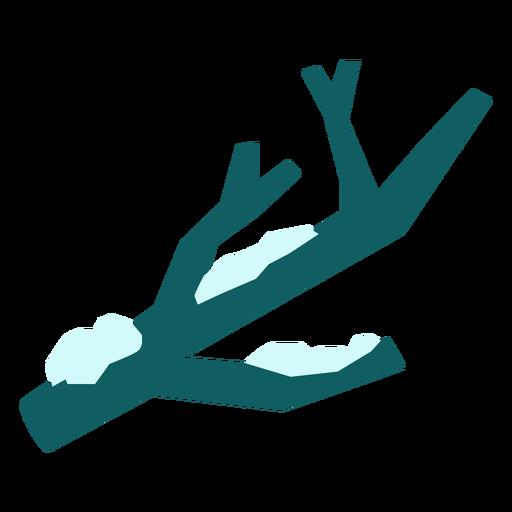 Snow in branch flat