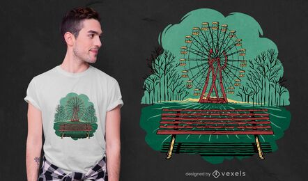 Chernobyl Ferris wheel t-shirt design