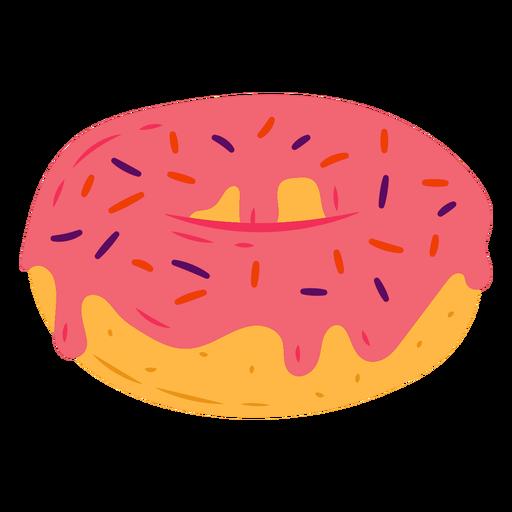 Pink donut semi flat