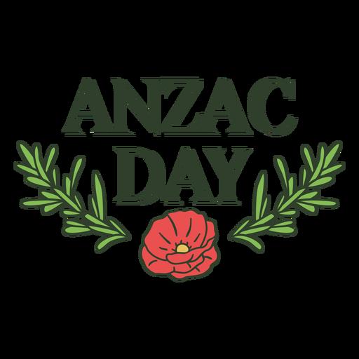 Anzac day ornamental sign color stroke