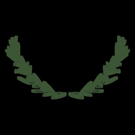 Ornamental stem with leaves stroke