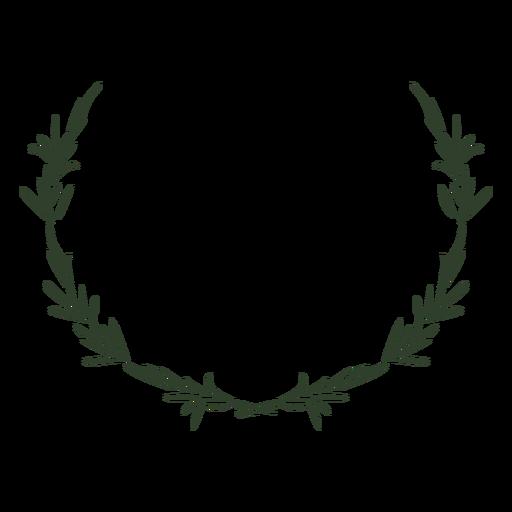 Leaves crown stroke