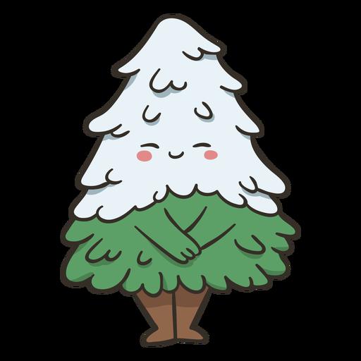 Snowy tree cute character