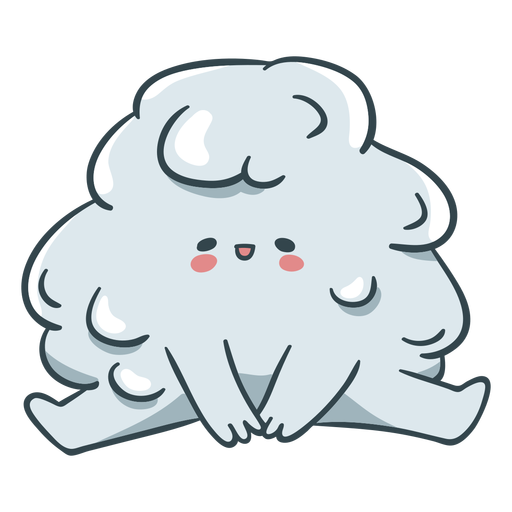 Melted snow ball cute