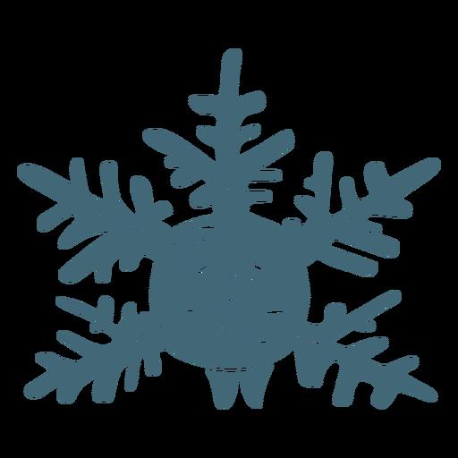Happy snowflake filled stroke