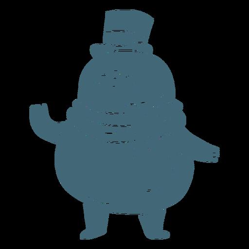 Happy snowman cute character