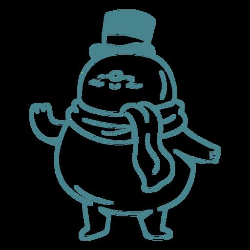 Happy snowman winter character