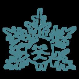 Snowflake cute character