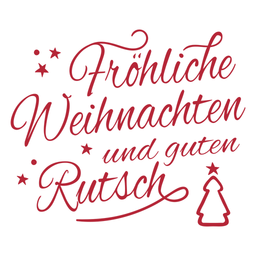 Merry Christmas and happy New Year cursive quote lettering