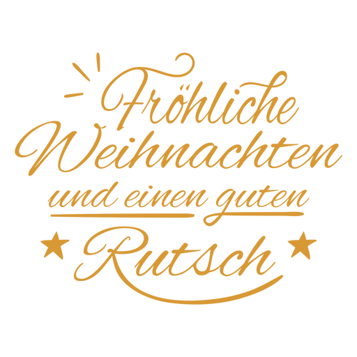 German happy new year badge