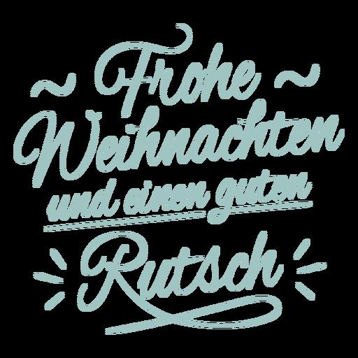 German holidays lettering badge