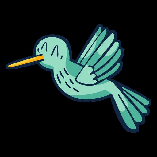 Flying happy bird cartoon