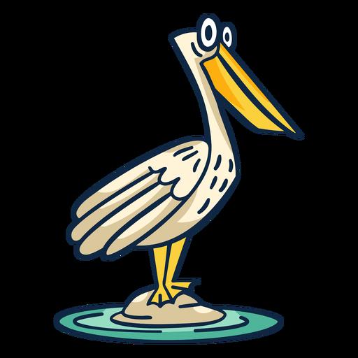Funny pelican color stroke