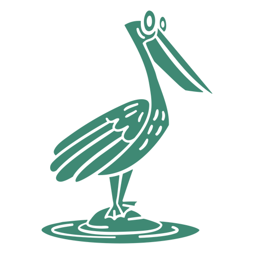 Funny pelican cut out