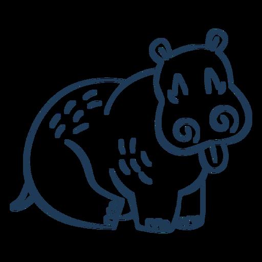 Hippopotamus stroke
