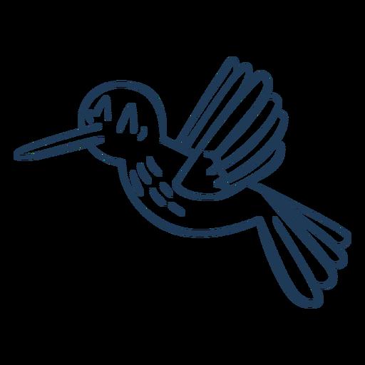 Flying hummingbird cartoon stroke