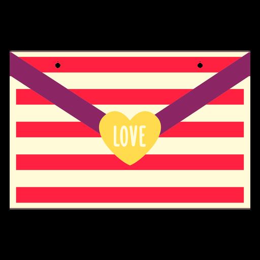 Carta de amor de San Valentín plana