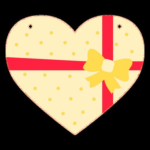 Heart shaped chocolates box flat