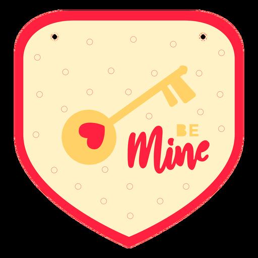 Be mine valentine's badge flat
