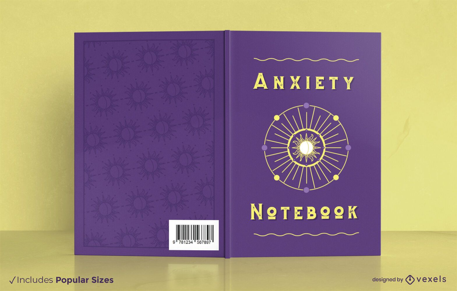 Anxiety notebook cover design