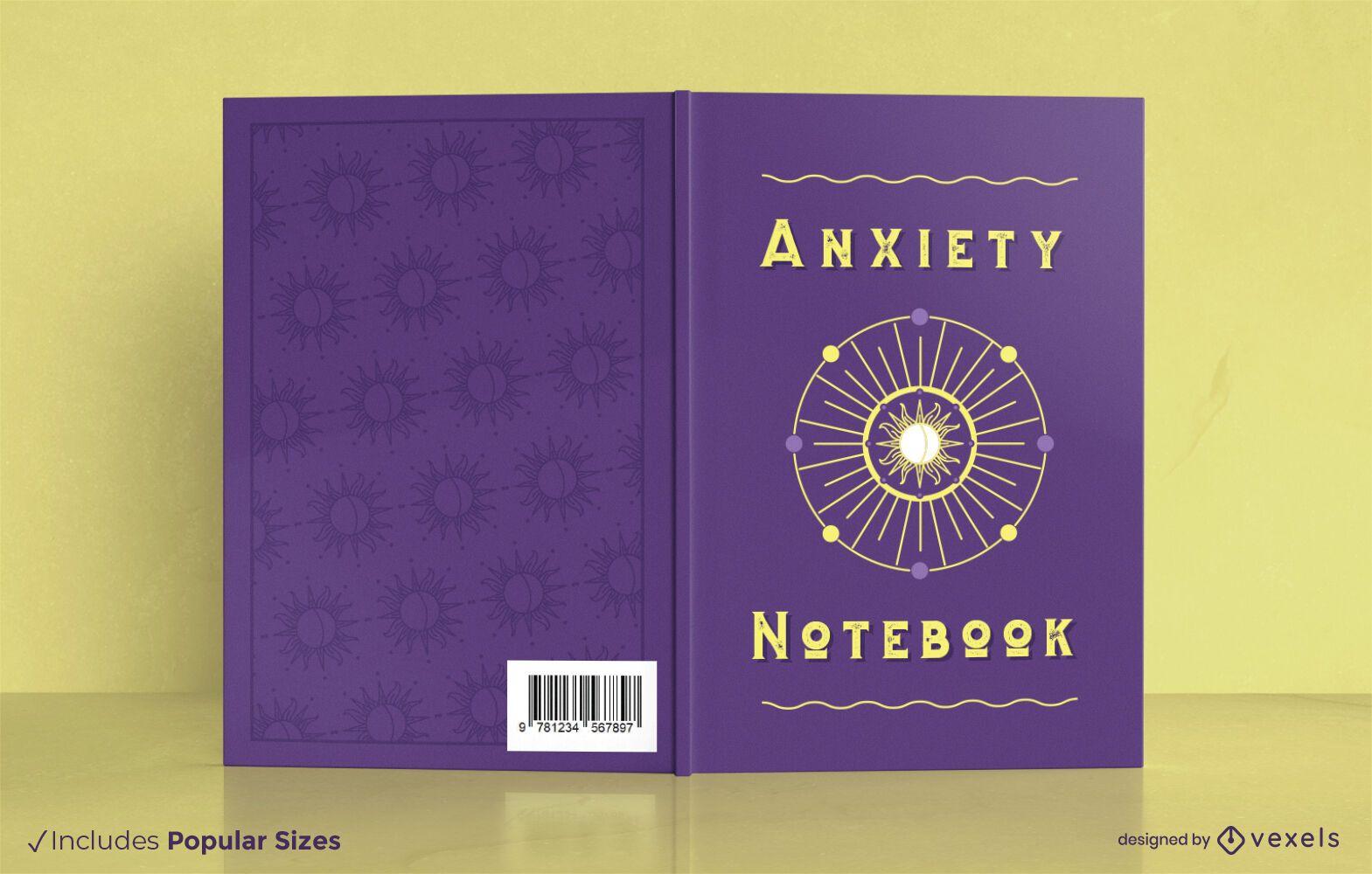 Diseño de portada de cuaderno de ansiedad