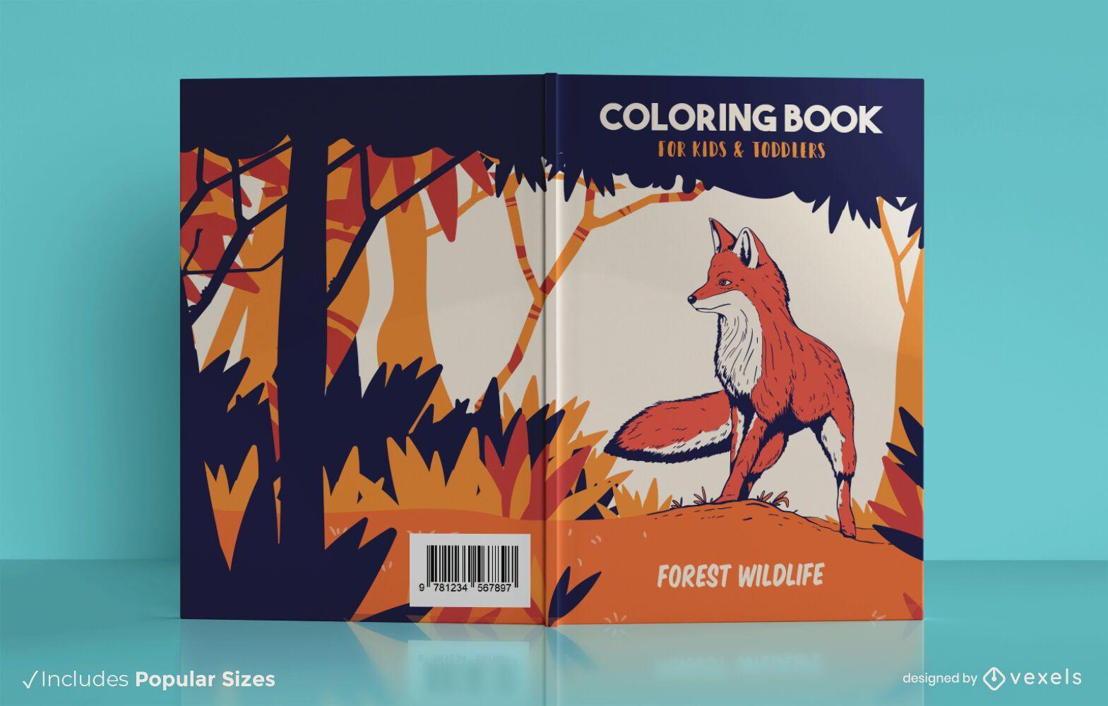 Dise?o de portada de libro de vida silvestre forestal