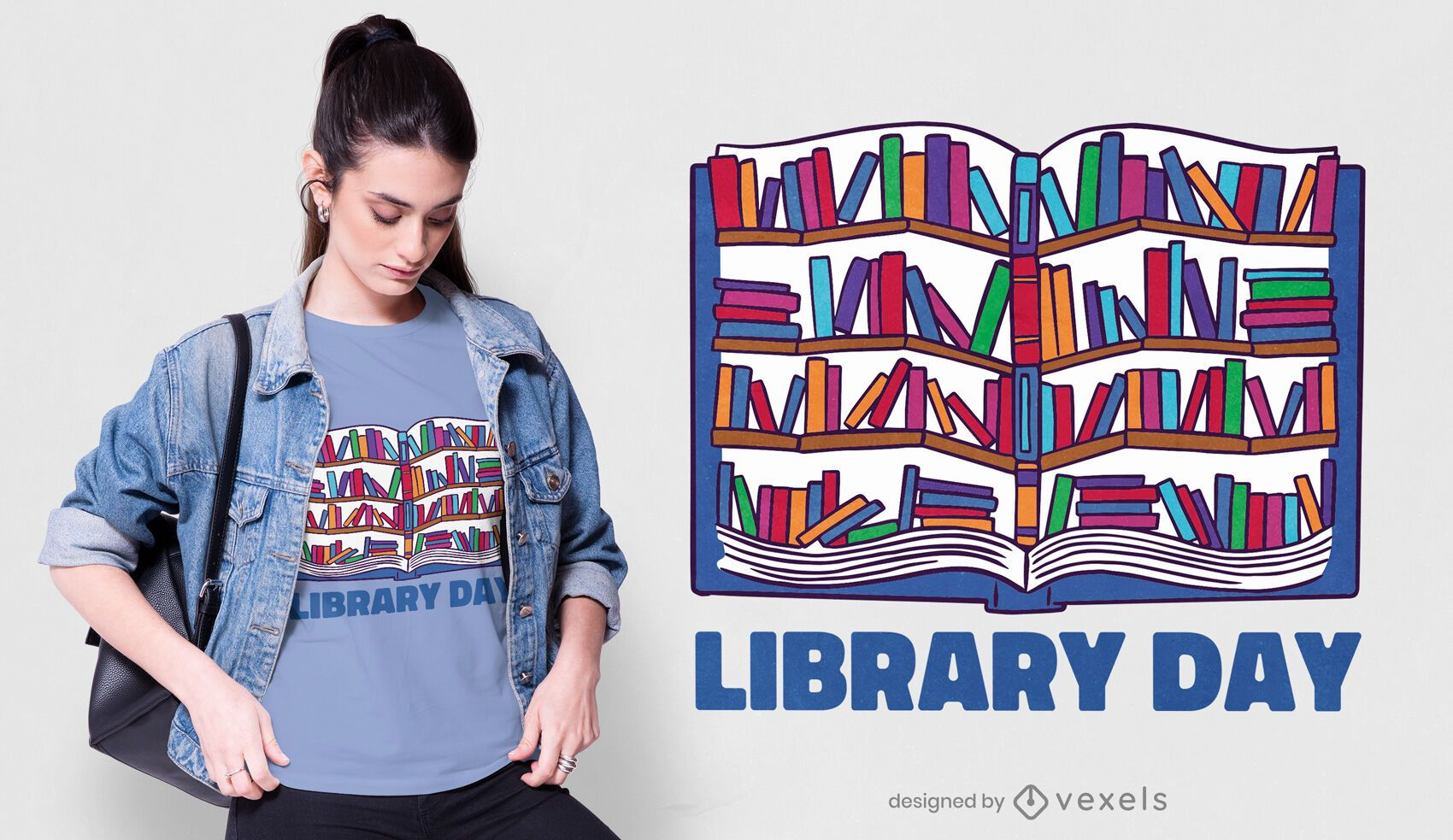 Library day t-shirt design