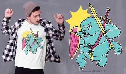 Design de t-shirt guerreira colorida Tardígrade