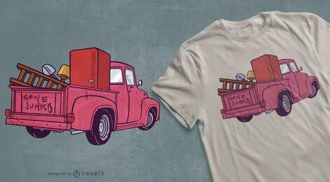 Design de camisetas antiquadas de picape