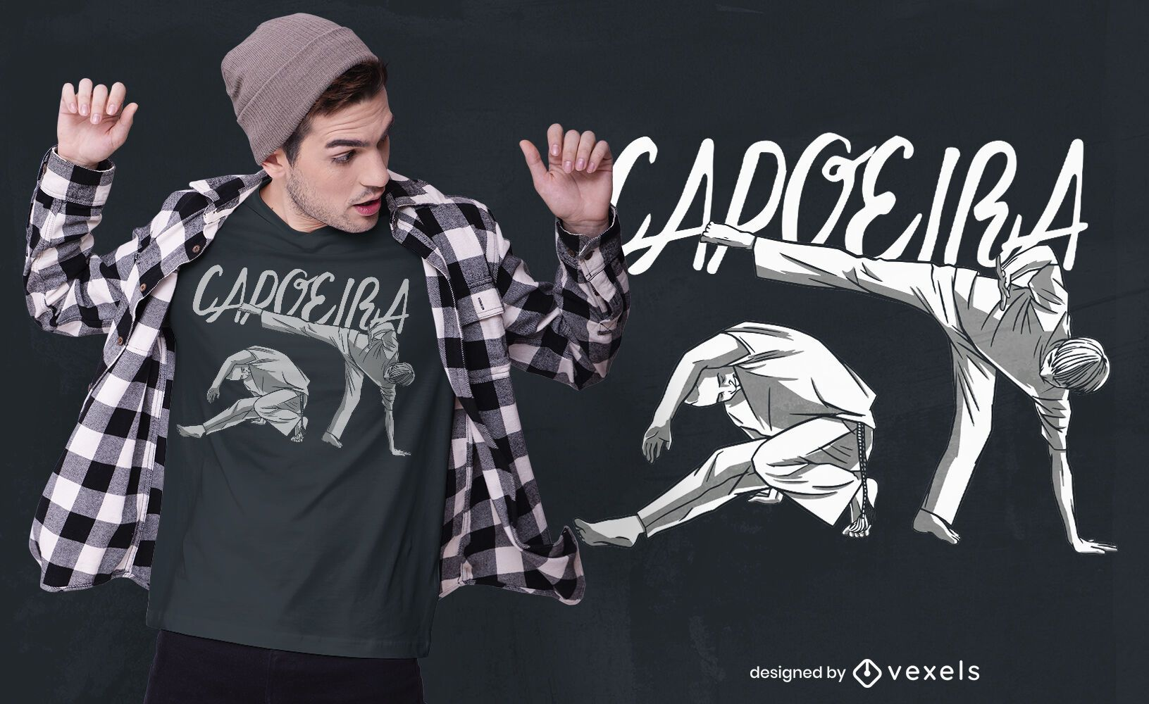 Capoeira dancing quote t-shirt design