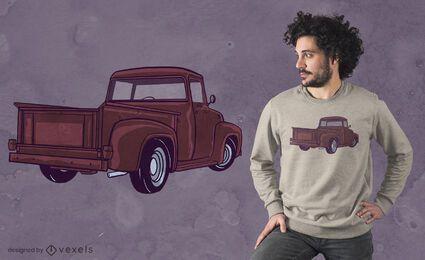 Diseño de camiseta de camioneta
