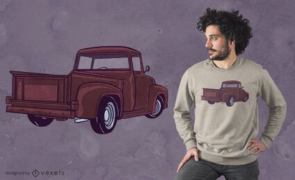 Pickup truck t-shirt design
