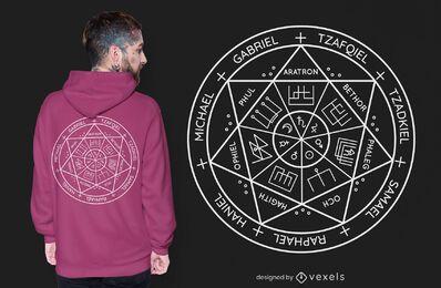 Design da camiseta do Selo dos Sete Arcanjos