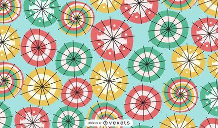 Patrón sin fisuras de sombrillas de colores