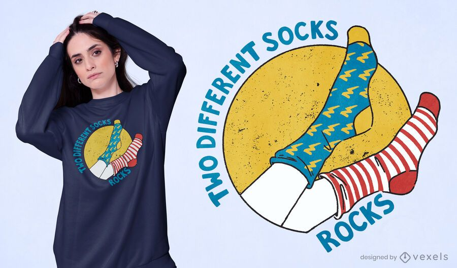 Two different socks t-shirt design
