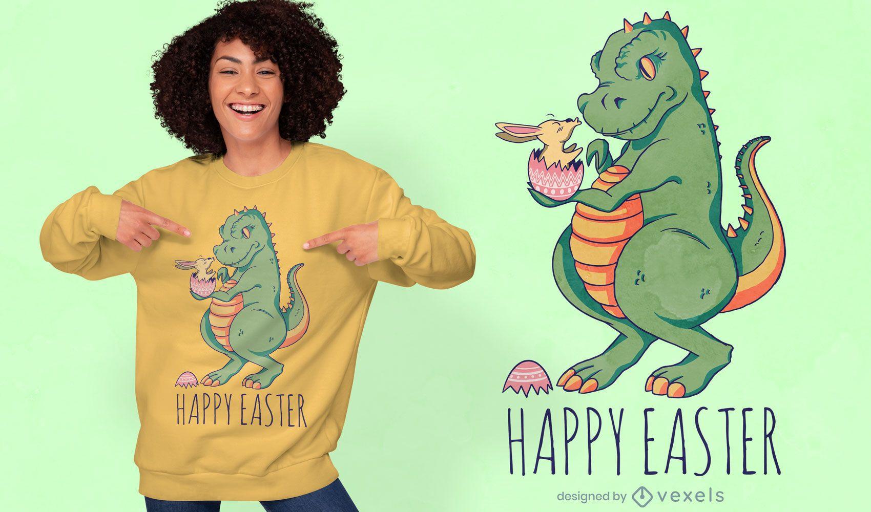 Design de camiseta com citação de ovo de Páscoa de dinossauro