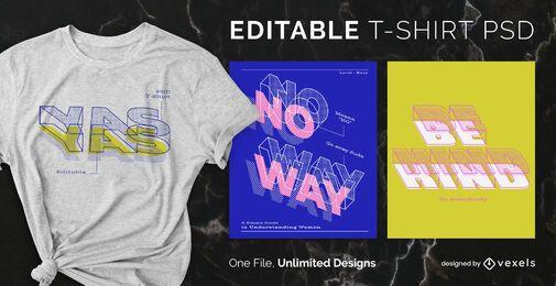 Blueprint Text skalierbares T-Shirt psd