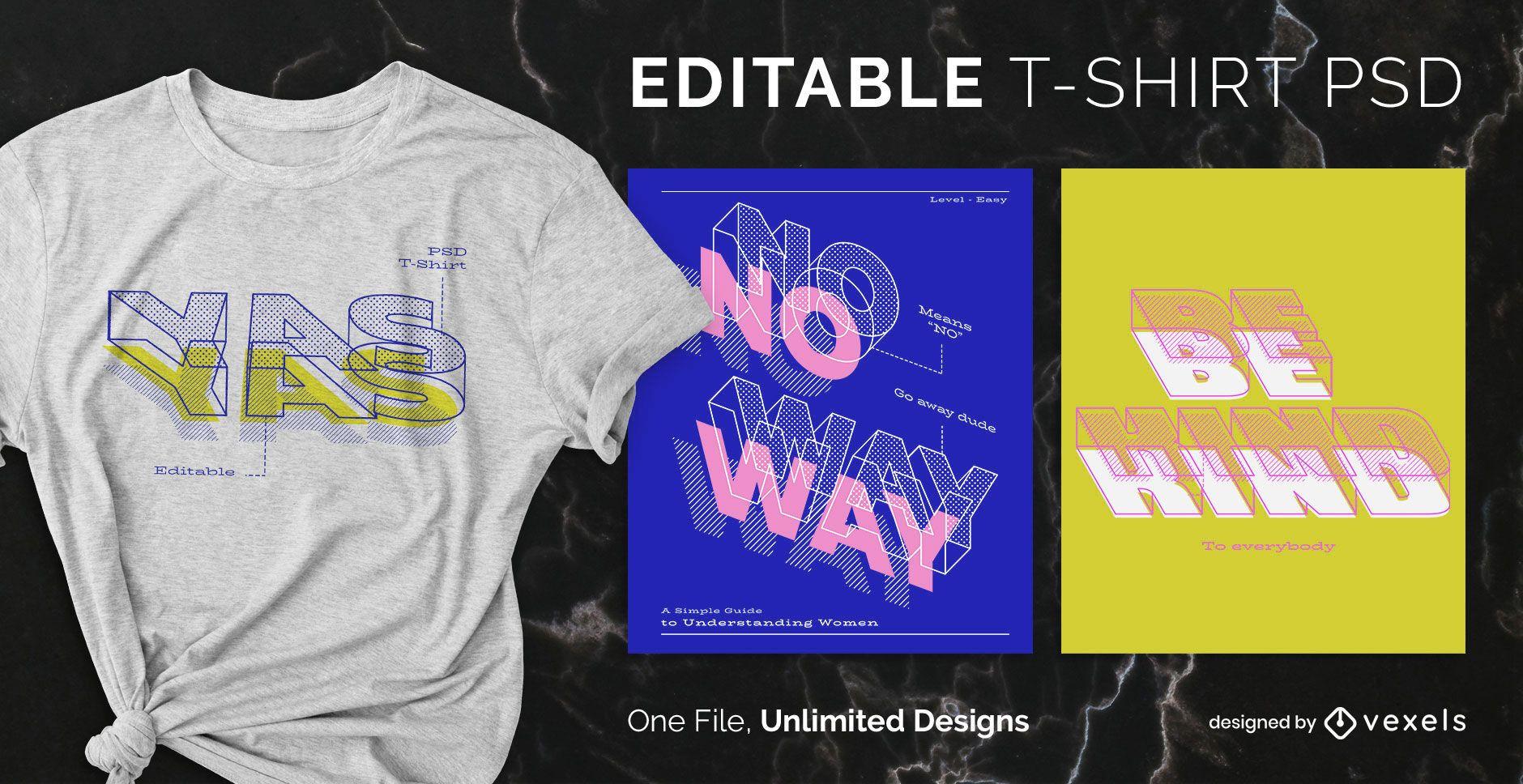 Blueprint text scalable t-shirt psd